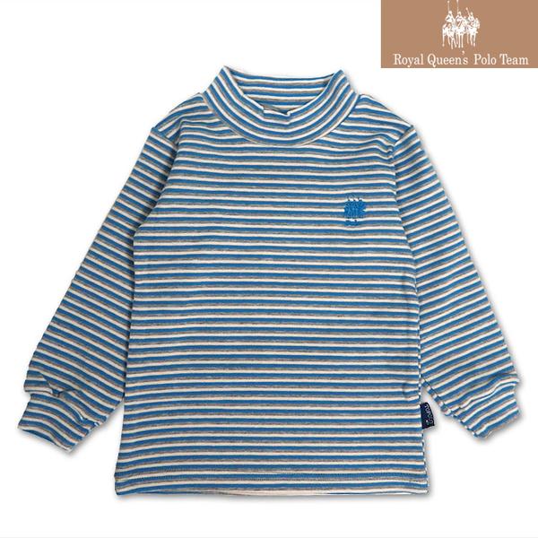 台灣製兒童套頭半高領長袖條紋上衣*3色 [0168]RQ POLO 秋冬童裝 小童 5-15碼