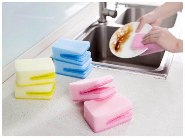 【U型海綿刷】糖果色開口造型菜瓜布 U形海綿清潔刷具 洗碗巾 百潔布 抹布