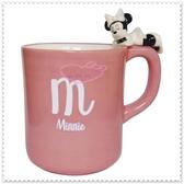 ♥小花花日本精品♥Hello Kitty 迪士尼 米妮紫粉色 臥躺造型手把 陶瓷杯 晚安杯 99926304