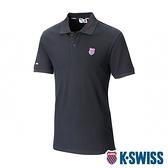K-SWISS Heritage Polo W/Shield Logo Patch短袖POLO衫-女-黑
