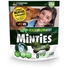 【美國原裝進口】MiNTiES猛特斯│清新低脂潔牙骨6.4oz-8入 (中型/大型犬用)
