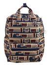 HAPI+TAS 摺疊手提後背包 - 米色倫敦風情