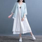 大尺碼中國風洋裝 無袖洋裝 大擺裙 大尺碼連身裙 背心長裙 降價兩天