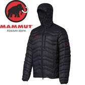 【MAMMUT 男 Broad Peak IN H連帽羽絨外套《黑》】1010-18460/羽絨衣★滿額送