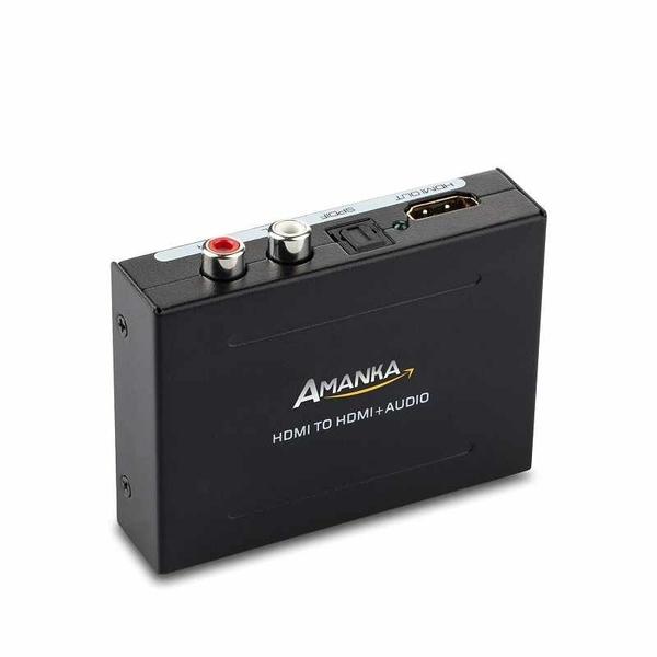 1080P HDMI音頻提取器 HDMI to HDMI Audio Optical and RCA 用於Ruku,Chromecast,Cable Box, Fire TV [2美國直購]