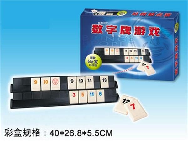 六人標準版桌游以色列麻將數字麻將牌標準版拉密聚會遊戲【步行者戶外生活館】