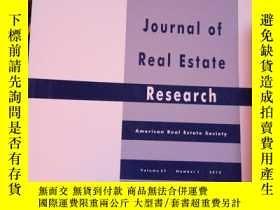 二手書博民逛書店Journal罕見of Real Estate Research