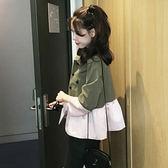高腰短款風衣 秋裝 新款 韓版 短外套 女