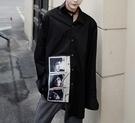 FINDSENSE Z1 韓國 時尚 潮 男 大尺碼 純色素面 歐美頭像印花 長