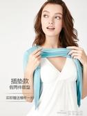 (快出) 哺乳短袖t恤夏季外出時尚莫代爾餵奶上衣可插墊免穿文胸哺乳衣夏