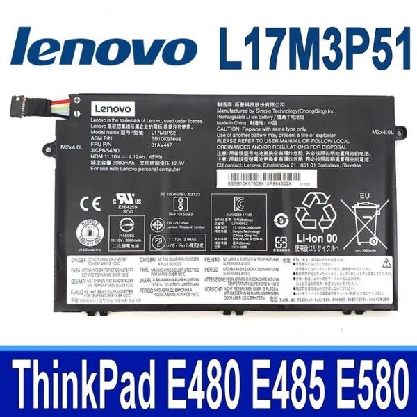 LENOVO L17M3P51 3芯 . 電池 ThinkPad E480 E485 E580 E585 系列 L17C3P51 L17M3P52 L17L3P51