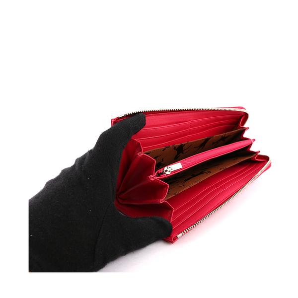 【LONGCHAMP】小羊皮L型長夾(玫瑰粉) 3418737C88