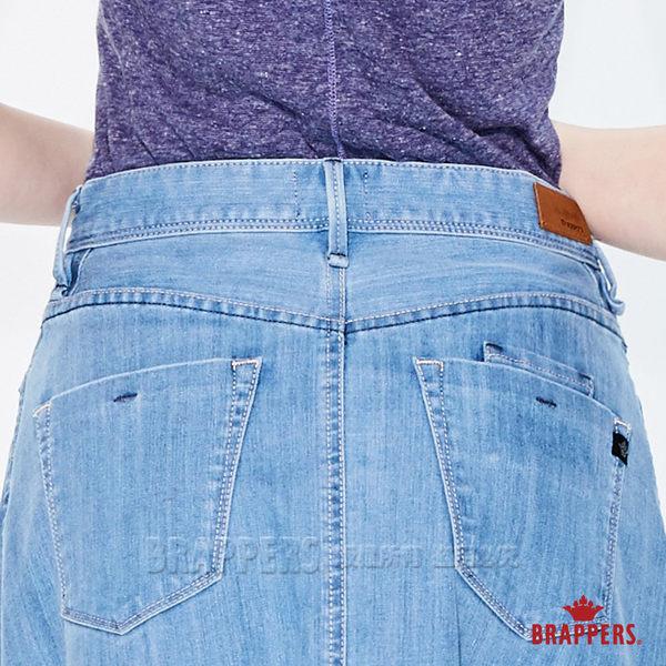 BRAPPERS 女款 Boy Friend系列-彈性不收邊A字長裙-藍