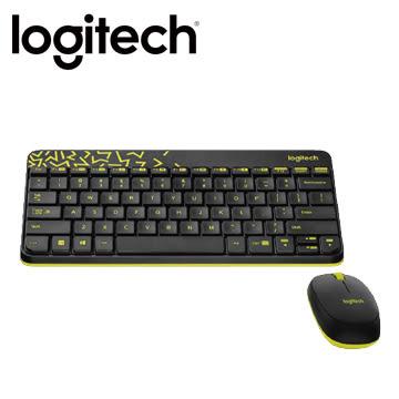 羅技 MK240 Nano 無線鍵鼠組 - 黑色 (黃邊)