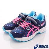 【ASICS】運動童鞋-繽紛圓點藍運動款-564N-4920(中童)