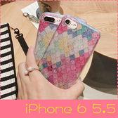 【萌萌噠】iPhone 6/6S Plus (5.5吋) 韓國閃粉Bring閃粉美人魚鱗片保護殼 全包矽膠軟殼 手機殼 手機套