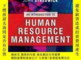二手書博民逛書店Introduction罕見To Human Resource Management-人力資源管理概論Y436