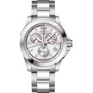 LONGINES 浪琴 征服者馬術競賽計時手錶-銀/41mm L37014766