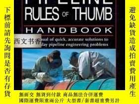 二手書博民逛書店Pipeline罕見Rules Of Thumb Handboo