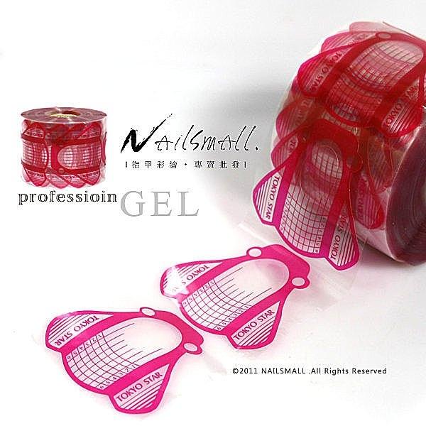 TOKYOSTAR凝膠專用蝴蝶形透明指膜500片延甲紙膜 方形 指膜 美甲紙托《NailsMall美甲美睫批發》