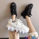 運動鞋 老爹鞋潮女鞋子年新款2021百搭小白反光運動休閒秋季女鞋寶貝計畫 上新