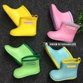 日本兒童雨鞋男童寶寶水鞋女童雨靴膠鞋小童幼兒園小孩套鞋防滑 初色家居館