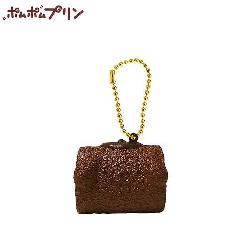 【日本正版商品】 布丁狗 咖啡款 瑞士捲 捏捏吊飾 美食 吊飾 擺飾 捏捏樂 Pom Purin 三麗鷗 - 610638