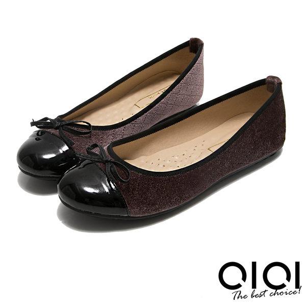 娃娃鞋 MIT小蝴蝶拼接菱格紋豆豆娃娃鞋(咖)*0101shoes【18-621co】【現+預】