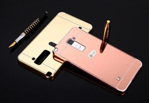 玫瑰金 電鍍鏡面殼 LG Stylus 2 plus 手機殼 保護殼 金屬邊框+鏡面背板 金屬殼 防刮 保護套 背殼