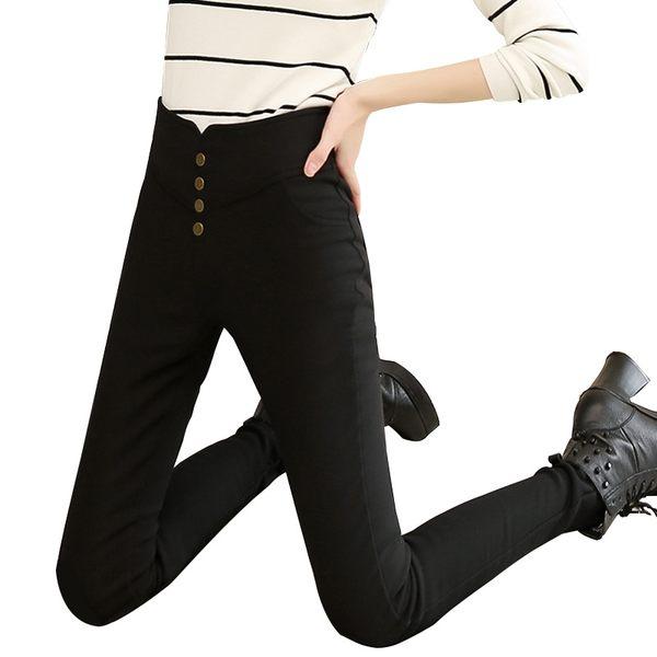 加肥加大碼黑色打底褲女200斤胖mm小腳鉛筆黑褲春秋薄款外穿顯瘦〖韓國時尚週〗