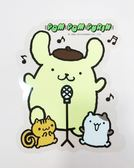 【震撼精品百貨】Pom Pom Purin 布丁狗~大貼紙-唱歌#96186