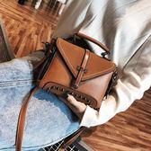小包包女季新款韓版時尚百搭大氣手提包復古簡約單肩斜挎包 全館88折