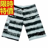 海灘褲-防水衝浪必敗品味戲水造型男短褲子1色54q42【時尚巴黎】