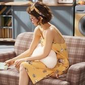 睡衣女夏純棉性感可愛學生卡通睡裙夏季薄款吊帶清新甜美家居服 居享優品