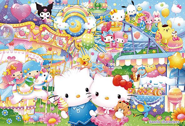 【拼圖總動員 PUZZLE STORY】夢幻遊樂園  日本進口拼圖/Beverly/三麗鷗/1000P