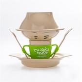 稻殼兒童餐具組(六件組)蘋果綠 【美國Husk'sWare】