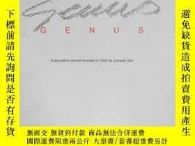 二手書博民逛書店罕見GENUS(2008年1-6月)Y109818 意大利 出版
