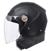 DFG電動電瓶摩托車頭盔男女士四季半盔灰冬季全盔冬天保 花樣年華YJT