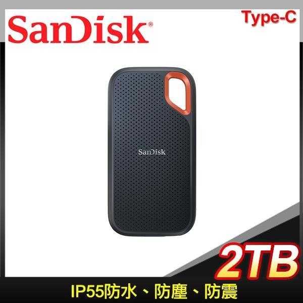 【南紡購物中心】Sandisk E61 2TB Extreme Portable SSD Type-C 外接SSD固態硬碟