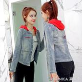 牛仔小外套女短款韓版休閒女裝寬鬆學生上衣潮 莫妮卡小屋