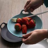 碟子陶瓷家用 創意長方形魚盤歐式餐盤圓形餐具個性簡約菜盤子   小時光生活館