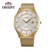 ORIENT 東方錶 SLIM系列 超薄時尚簡約藍寶石鏡面石英錶 米蘭帶 FGW03003W 金色 - 39mm
