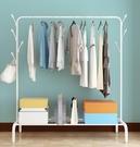 簡易晾衣架落地摺疊臥室單桿