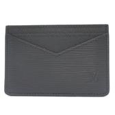 LOUIS VUITTON LV 路易威登 黑色水波紋EPI名片夾Neo Card Holder M67210【BRAND OFF】