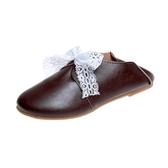 圓頭小白鞋 平底兩穿娃娃鞋 休閒文藝范學生鞋女單鞋潮 超值價