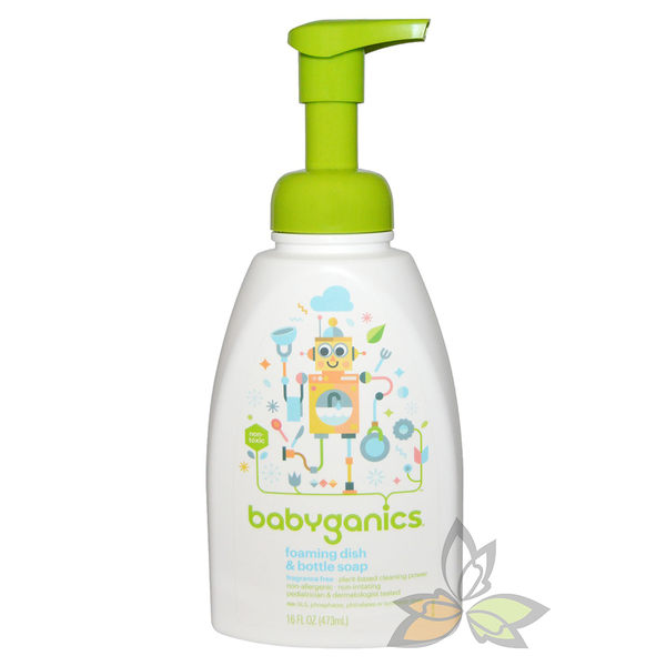 Babyganics 寶貝餐具 奶瓶清潔慕斯 473ml【百奧田旗艦館】