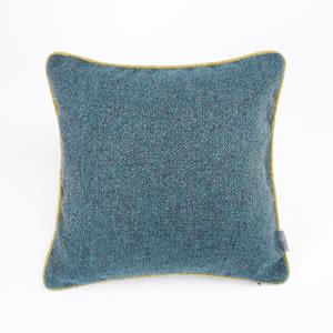 HOLA 海迪緹花抱枕 45x45cm 紋理藍