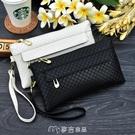 手拿包-新款細格紋手拿包女士大容量零錢手機包夏季韓版百搭小包包潮 麥吉良品