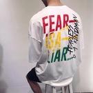 找到自己 MD 韓國 潮 男 時尚 寬鬆 休閒五分袖 彩色字母印花 短袖T恤 字母T 學生短T 短袖上衣