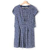 【MASTINA 】滿版格子洋裝深藍   洋裝